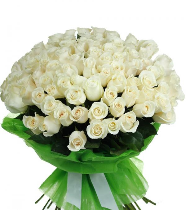 Белые цветы букетов